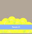 yellow tennis balls vector image vector image
