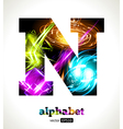 Design Abstract Letter N vector image vector image