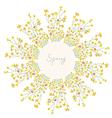 Floral frame for spring vector image vector image
