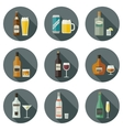 Beverages and drinks icons vector image