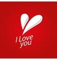 logo heart vector image