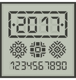 Happy 2017 new year digital card vector image vector image