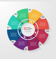 circle infographic 8 options vector image