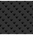 Animal footprint seamless dark pattern vector image