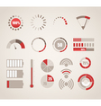 Different indicators collection vector image