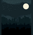 flat design urban landscape night vector image