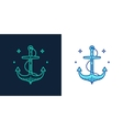 Linear style icon of an anchor vector image