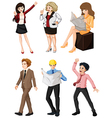 People with different professions vector image