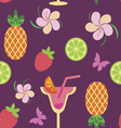 Seamless pattern with tropical delicios vector image