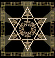 star of david decoration tile with geometric vector image