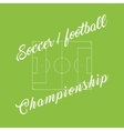 Championship soccer football green background vector image
