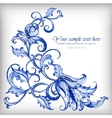 Watercolor blue backgroundGzhel details vector image vector image