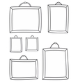 Hand drawn decorative photo frames on white vector image