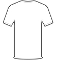 back t-shirt vector image