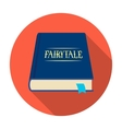 Book with fairytales icon in flat style isolated vector image