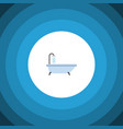 isolated shower flat icon tub element can vector image