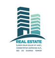 real estate purchase in city center commercial vector image