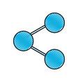 sharing symbol application social media online web vector image