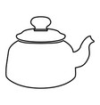 teapot black color icon vector image