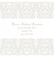 Wedding Invitation lace card vector image