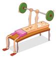 dumbbell chest press vector image