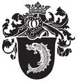 heraldic silhouette No45 vector image