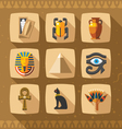 Egypt icons and design elements vector image