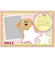 Babys monthly calendar for may 2011s vector image