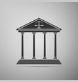 courthouse icon isolated on grey background vector image