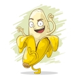 Crazy cartoon banana vector image