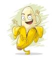 Crazy cartoon banana vector image