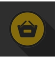 dark gray and yellow icon - shopping basket minus vector image