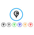 euro map pointer rounded icon vector image