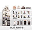 european building elements set vector image