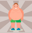 fat man flat overweight body vector image