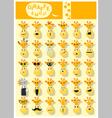 Giraffe emoji icons vector image