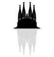 Sagrada Familia in Barcelona vector image