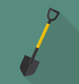 Shovel flat icon vector image