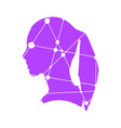 silhouette of a woman head vector image