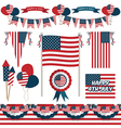 usa decorations vector image