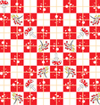 seamless background in red squares vector image vector image