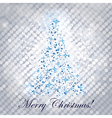 shiny christmas tree - vector image vector image