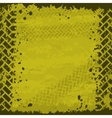 Yellow tire track background vector image