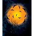 Halloween moon night background vector image