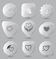 heart and arrow careful heart protection love love vector image
