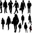 urban silhouettes vector image vector image