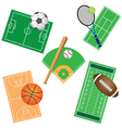 fields and balls vector image vector image