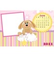 Babys monthly calendar for june 2011s vector image