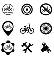 bicycle service 9 icons set vector image