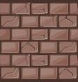 cartoon brown stone wall texture vector image